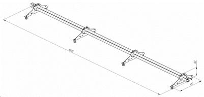 Cнегодержатель трубчатый для металлочерепицы
